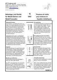 und Metall Fassadenbau (PDF/3MB) - HFT Fasteners AG