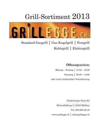 Grill-Katalog 2013 - Niederberger Paul AG