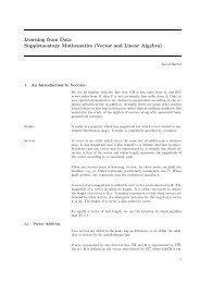 Supplementary maths notes
