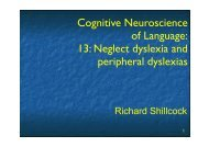 Neglect dyslexia and peripheral dyslexias