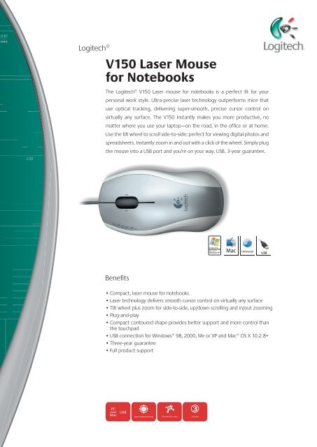 LOGITECH V150 MOUSE DRIVERS FOR WINDOWS 7