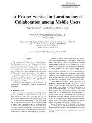 A Privacy Service for Location-based Collaboration ... - PUC-Rio