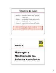 Modelagem e Monitoramento das Emissões Atmosféricas