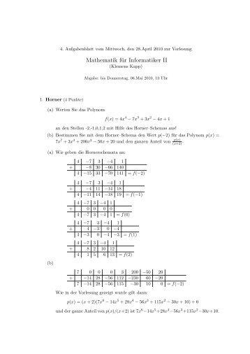 Mathematik f r informatiker iii im ws 05 06 musterl sung for Informatiker fa