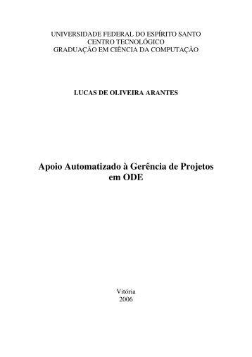 Apoio Automatizado à Gerência de Projetos em ODE