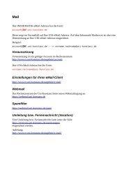 Mail - Fachbereich Informatik & Informationswissenschaft