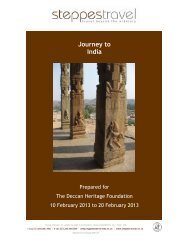 Journey to India - Deccan Heritage Foundation