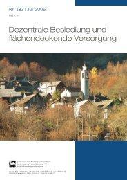 Dezentrale Besiedlung und flächendeckende Versorgung - SAB
