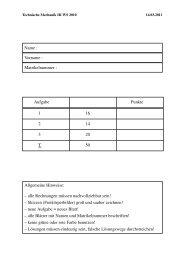 Name : Vorname : Matrikelnummer : Aufgabe Punkte 1 16 2 14 3 20 ...