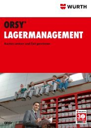 ORSY® lageRmanagement - Wuerth AG