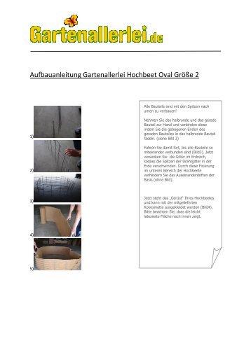 Aufbauanleitung Gartenallerlei Hochbeet Oval ... - Gartenallerlei.de