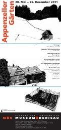n 20. Mai – 25. Dezember 2011 - Ganz Landschaftsarchitekten