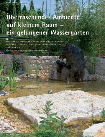 Wassergarten auf einer Dachterrasse - Egli Gartenbau AG