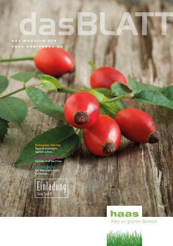 """Magazin 5 """"dasBlatt"""" lesen - Haas Gartenbau AG"""