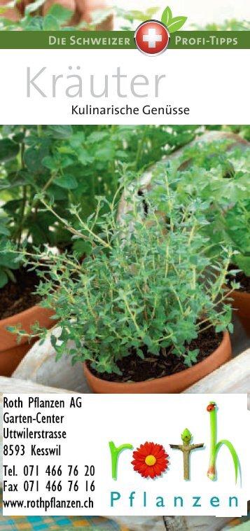 Kräuter - Roth Pflanzen AG