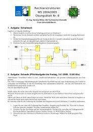 Rechnerstrukturen WS 2004/2005 Übungsblatt Nr. 8 - Freie ...