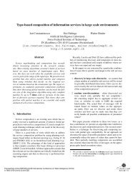 Type-based composition of information services in large scale ...