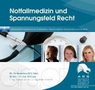 Notfallmedizin und Spannungsfeld Recht - ARS