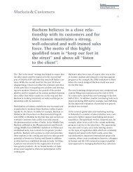 Wide Range of Customers - Bachem