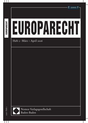 Nomos Verlagsgesellschaft Baden-Baden Heft 2 • März – April 2006 ...