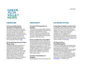 Green Tech Valley Newsletter April 2013 - Eco World Styria
