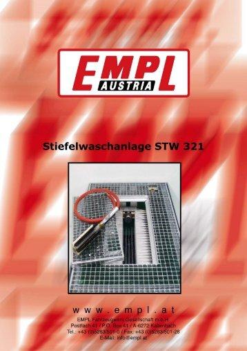 Stiefelwaschanlage STW 321