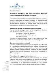 Rasantes Prickeln: Mit dem Porsche Boxster von Gasteiner durch ...