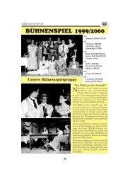 BÜHNENSPIEL 1999/2000