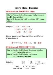 Säure- Base- Theorien