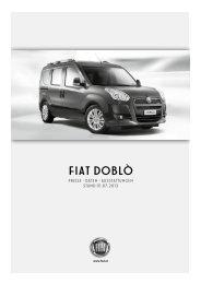 Preisliste Fiat Doblò