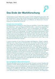 Das Ende der Marktforschung - Haslinger, Keck.