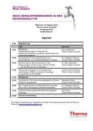 Agenda - Thermo Fisher Scientific