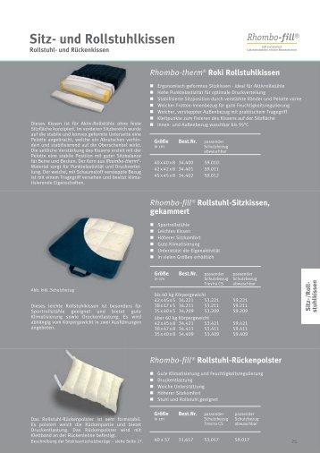 Sitz- und Rollstuhlkissen - Hospital Textil
