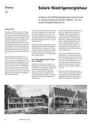 Solare Niedrigenergiehaussiedlung Gleisdorf - IBO