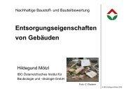 Hildegund Mötzl, IBO: Entsorgungseigenschaften von Gebäuden