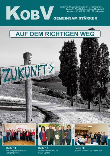 JETZT NEU: KOBV GEMEINSAM STÄRKER, Ausgabe 1/2013