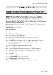 Protokoll (36 KB) - .PDF - Stadtgemeinde Mank