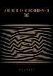 Verleihung der Landeskulturpreise Steiermark 2012 ... - Info-Graz