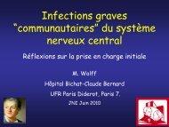 Infections graves du système nerveux central - Infectiologie