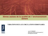 5èmes assises de la qualité de l 'environnement sonore - Centre d ...
