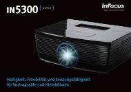 InFocus IN5300 Series Datasheet (German)