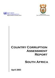 Country corruption assessment report - South Africa Government ...