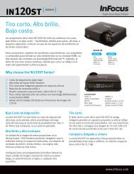 InFocus IN120ST Series Datasheet (Latin Spanish)