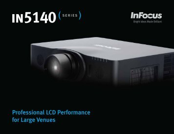 Datasheet for the InFocus IN5142, IN5144 and IN5145 Projectors