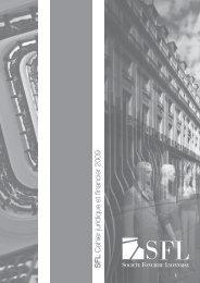 SFL Cahier juridique et fi nancier 2009 - Info-financiere.fr