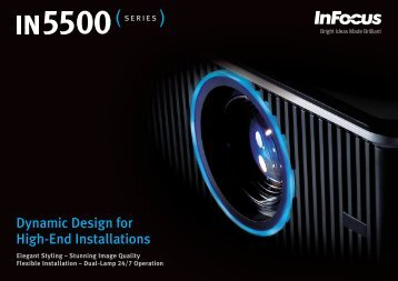 Datasheet for the InFocus IN5533L and IN5535L Projectors