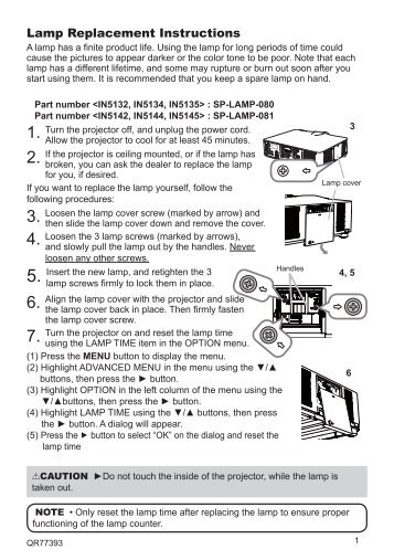Lamp Replacement Guide   InFocus