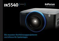 InFocus IN5540 Series Datasheet (German)
