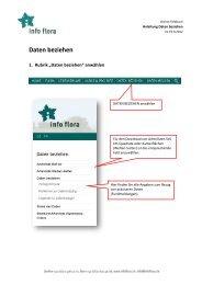 Daten beziehen - Info Flora