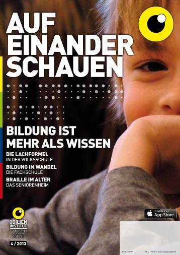 BiLdunG isT Mehr aLs Wissen - Odilien-Institut Graz